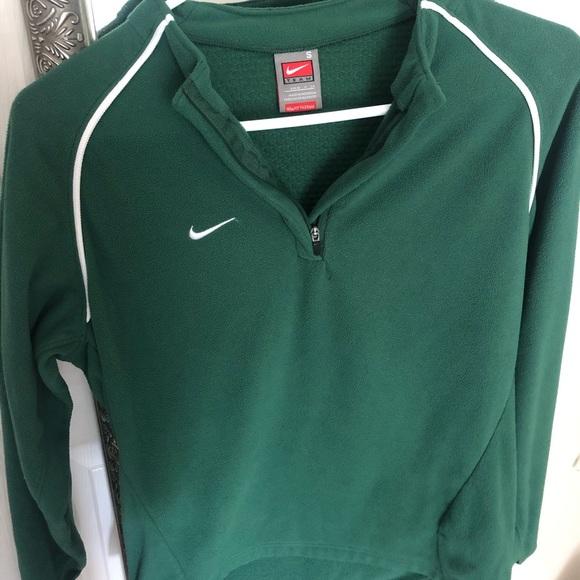 Green Nike Fleece Zip-Up